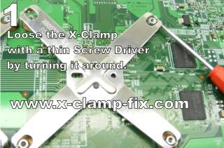 Commercial X-clamp fix for red-ringed 360s: mostly new screws