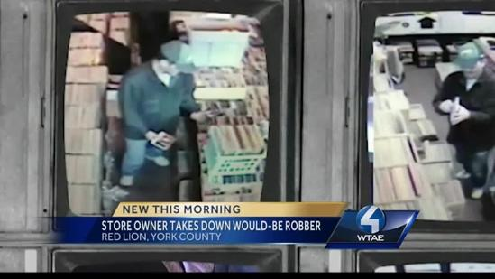 Shoplifter encounters cage-fighting shop owner