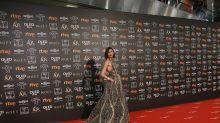 Nieves Álvarez brilla en los Goya 2019 con un vestido inspirado en Gaudí