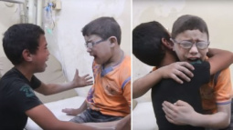 Heartbreaking Video Shows Boys Sobbing After Learning Their Brother Was Killed in Airstrike