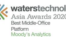 Moody's Analytics Wins Best Middle-Office Platform at WatersTechnology Asia Awards