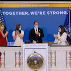 Cuomo Rings Opening Bell at NYSE as Trading Floor Reopens