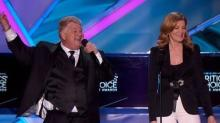 Rene Russo Honors Kevin Costner at Critics' Choice Awards, With Help From a Very Fast Talker