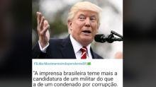 #Verificamos: Trump não disse que imprensa brasileira 'teme' candidatura de um militar