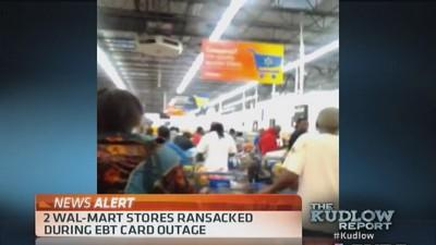 2 Wal-Mart stores ransacked