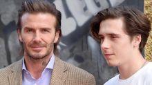 David Beckham de igualito con su hijo Brooklyn