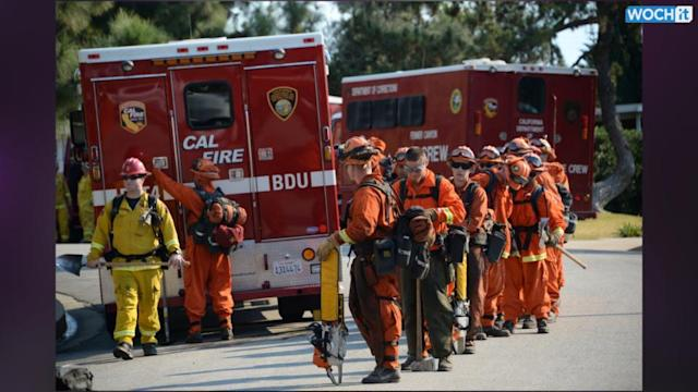 Wildfire Destroys Homes Near Los Angeles, Three Arrested