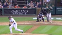 Tigers pitcher takes a 103 mph liner off his head and doesn't even fall down