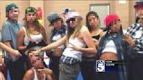 Cheerleaders Under Fire After Posing in Gang-Style Clothes in Team Picture