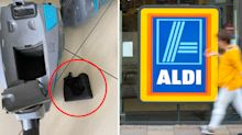 Aldi shopper 'panics' after vacuum explodes and catches fire