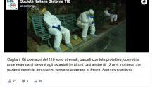 La imagen de los sanitarios exhaustos en un banco como símbolo del impacto de la segunda ola en Italia