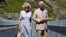 Duchess of Cornwall accessorises with chic raffia bag for royal engagement in Cornwall
