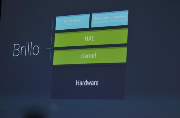 Project Brillo is Google's platform for the Internet of Things