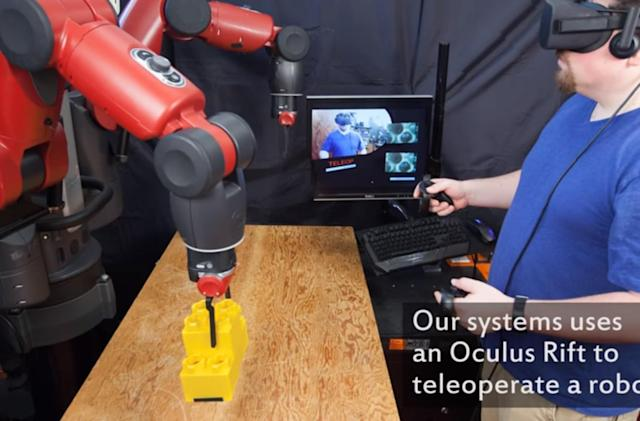 Scientists test VR system to control robots from virtual cockpits