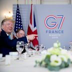 'Right man for the job': Trump talks trade with Boris Johnson at G-7 summit in France