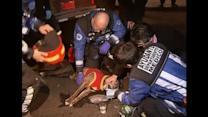 Chilean firefighters revive dog after it succumbs to smoke in fire