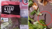 Coles customer's revolting find in 'ready to eat' salad