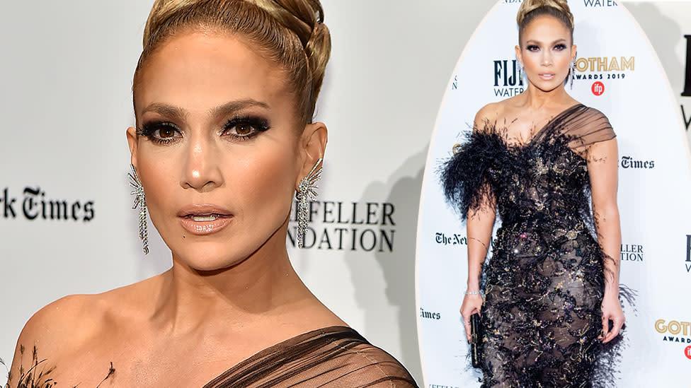 Jennifer Lopez, 50, stuns in 'naked' dress on the red carpet