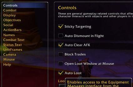WoW Patch 3.1 PTR Galleries: Equipment Manager, LFG, colorblind mode, joining battlegrounds
