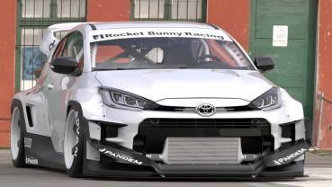 喜歡WRC賽車的造型?何不試試Rocket Bunny改裝的Toyota GR Yaris