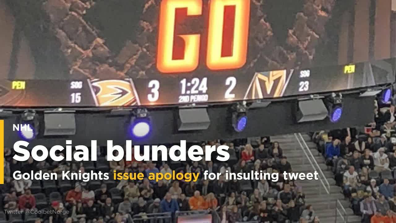 Golden Knights issue an apology for tweet insulting Nashville media [Video]