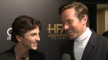 Armie Hammer and Timothee Chalamet Talk 'Call Me By Your Name 2' (Exclusive)