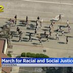 Several Dozens Participate In March For Racial And Social Justice In Pasadena