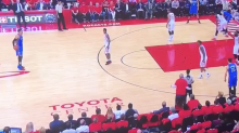 Rockets owner gets out of courtside seat to complain to ref mid-play (Video)