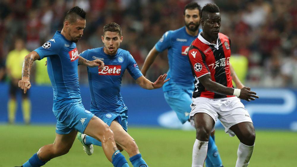 Nizza-Napoli, flop Balotelli: zero occasioni, nervosismo e fischi
