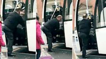 National Express driver facing the sack after pulling passenger off bus by her legs