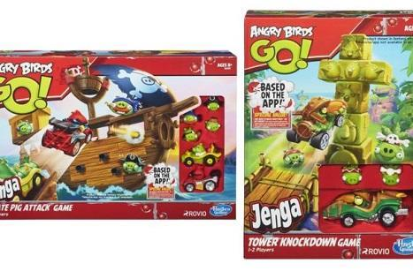 Angry Birds Go is a kart racer, complete with Hasbro toy line