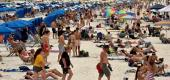 Crowded beach in Florida. (Reuters)