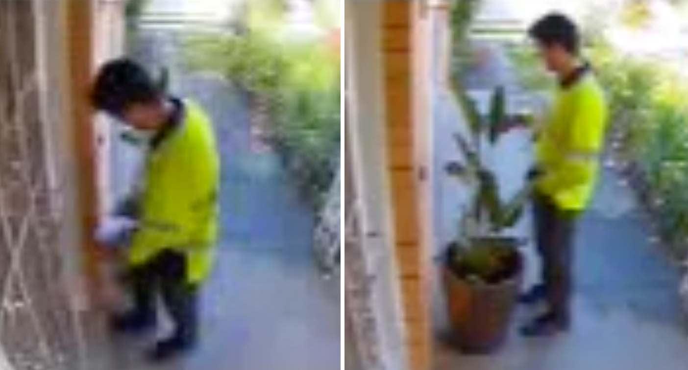 Australia Post worker taken off duties after video captures him urinating in customer's pot plant