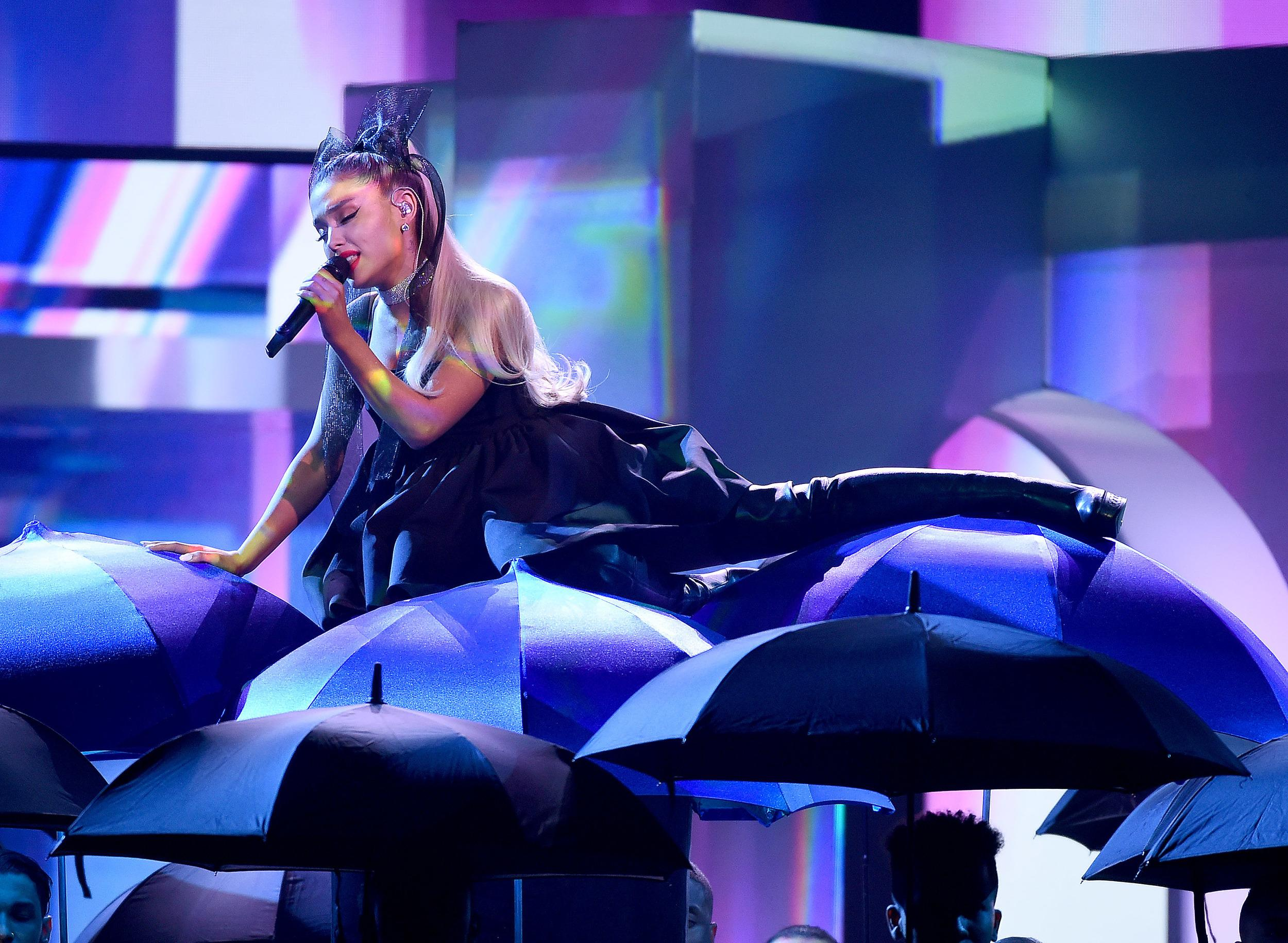 LAS VEGAS, NV - MAY 20: Ariana Grande performs at the 2018 Billboard Music Awards at MGM Grand Garden Arena on May 20, 2018 in Las Vegas, Nevada. (Photo by Frank Micelotta/PictureGroup/Sipa USA)