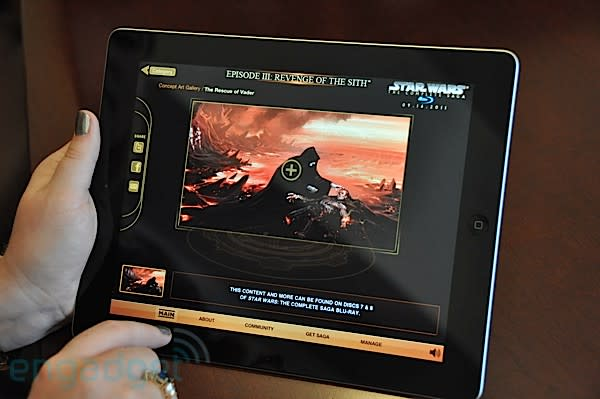 Hands-on with the Star Wars Blu-ray: Early Access iOS app