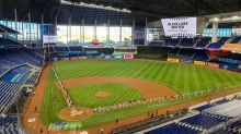 After three-plus weeks on the road, they can finally say it: Play ball from Marlins Park