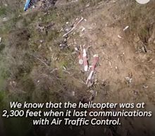 Stunning drone video shows devastation from helicopter crash that killed Kobe Bryant, 8 others