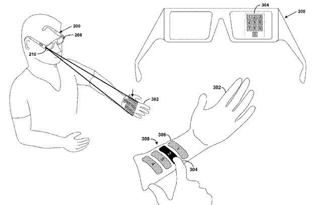 Google dreams up tiny laser projection system to control Project Glass