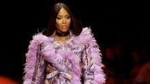 Naomi Campbell Walks Arise Fashion Week