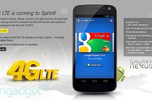 Sprint gets 4G LTE, Galaxy Nexus and LG Viper: It's official