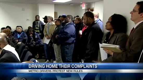 Metro drivers speak out at transit board meeting