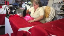 Demand for Canada 150 flags, brings seamstress out of retirement