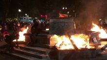 Portland Protesters Set Fire to Base of Elk Statue During 46th Consecutive Night of Demonstrations