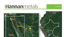 Hannan Completes a 17,500 Sq km Regional Geological Remote Study at the San Martin Copper-Silver Project in Peru