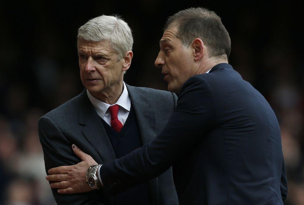 Arsene Wenger and Slaven Bilic