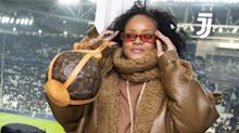 Rihanna Attended a Football Match Carrying a $3,500 Inflatable Soccer Ball as a Purse