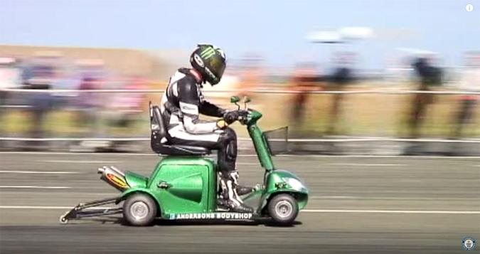 World's fastest mobility scooter hits record 107.6 mph