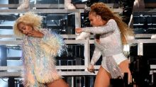 Beyoncé and Solange suffer epic stage fall as they hug at Coachella before styling it out like pros