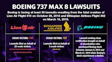 Boeing faces at least 35 lawsuits over its 737 Max 8 aircraft crashes