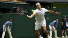 Federer wielding SABR with devastating effect